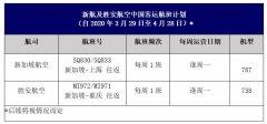 乌克兰航空-新加坡航空发布往返中国的航班调整计划