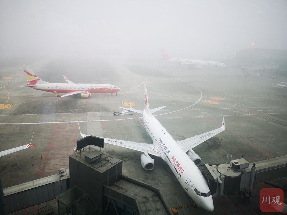 大雾致双流机场大面积延误,系今年进冬以来首次